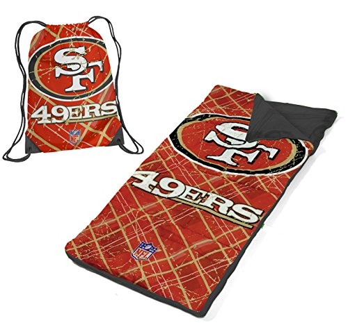 NFL San Francisco 49's Drawstring Bag with Sleeping Sack by Idea Nuova