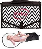 Diaper Changing Pad, Compact, Neat & Organized Baby Changing Station, – Safe & Healthy To Use Changing Mat With Attachable Strap & Expendable Mesh Pocket For Maximum Convenience