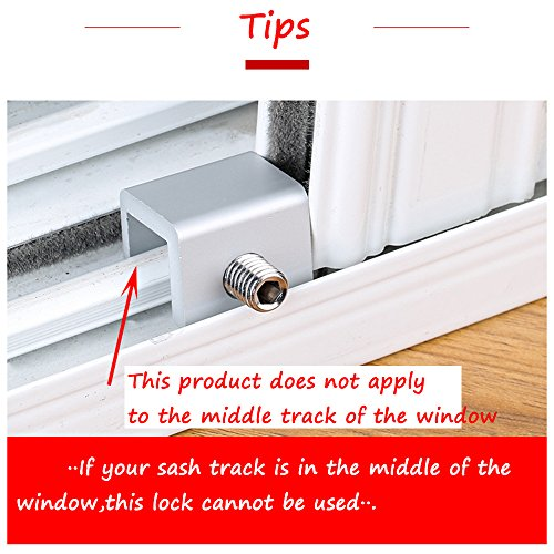 Window Locks-Sliding Window-Sliding Window Lock-Window Stop-Adjustable Sliding Window Locks Stop Door Frame Security Locks with Keys【8 Pieces】 by LFM (Image #5)