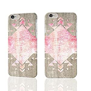 Pink Geometric Photo Plastic Hard Customized Personalized 3D Case For iPhone 6 Plus - 5.5 inches by supermalls