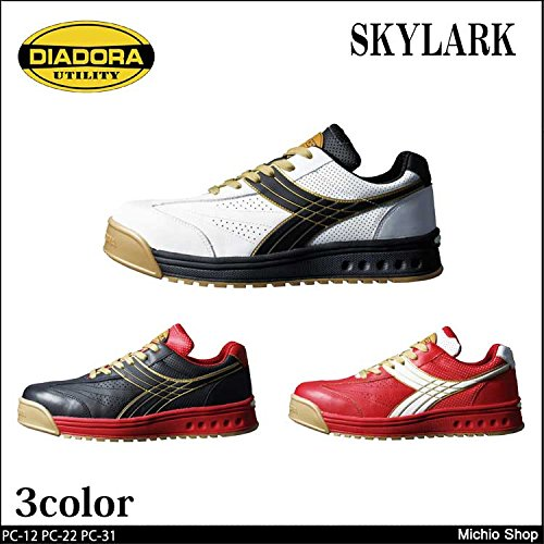 ディアドラ 安全靴 ピーコック ユーティリティ セーフティスニーカー 315pc-12Color:ホワイト×ブラック[PC-12] 23.0 B07BK48Z1Y