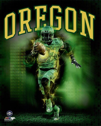 University of Oregon Ducks Player Composite - 8x10 Inches - Art Print Poster