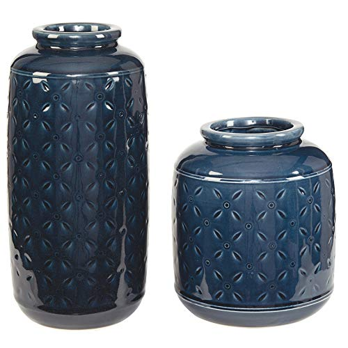 Ashley Furniture Signature Design - Marenda Vase Set - Navy Blue -