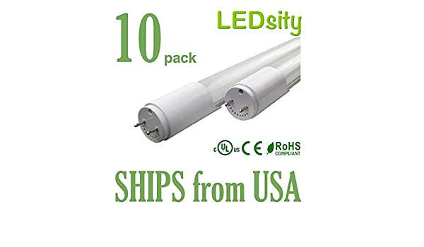 10 pack Daylight 18W T8 LED Tube Light 4ft LEDsity 110154-010