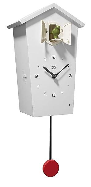 Kuckucksuhr Uhr Oder Vogelstimmen Birdhouse Moderne Singvogel Wanduhr 12 Kookoo Mit Aus Der Weiß Pendel Natur Design Natürlichen QthxrdCs