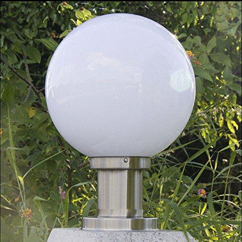 - Pumpink Ball shape outdoor chapiter light garden fence park pillar lighting landscape column lamps (Color : A, Size : 25cm)
