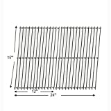 61702 - Arkla, Broil King, Charbroil, Charmglow, Coleman, Grill Master, Jacuzzi, Kenmore, Sterling/Shepherd and Sunbeam Gas Grill Replacement stainless steel Cooking Grid
