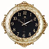 Jedfild European style wall clock creative living room modern art personality mute watches, yellow with black