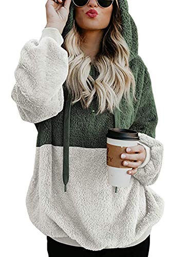 - BTFBM Women Hooded Fleece Jacket Pullover Long Sleeve Zip Hoodie Sweatshirt Coat Outwear