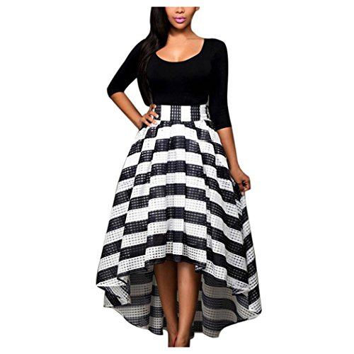 Inkach Womens Summer Long Maxi Dresses Long Sleeve Prom Party Gown Formal Wedding Dress (XL, - Shirt Sleeve Elegance Show Long