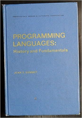 Programming Languages: History and Fundamentals (Automatic Computation)