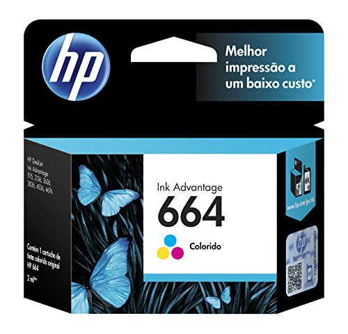 Cartucho original de tinta tricolor HP 664 Advantage (F6V28AL)