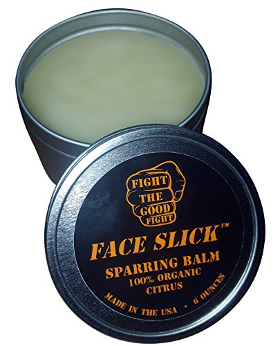 FACE SLICK SPARRING BALM CITRUS 100 Organic Balm 1 Sparring Balm Trusted By Professional Boxers FACE SLICK Pure All Natural Organic Salve And Organic Skin Protectant – Made In USA – 6 OZ.