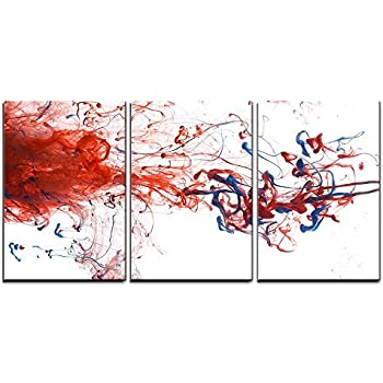amazoncom wall26 3 piece canvas wall art red and