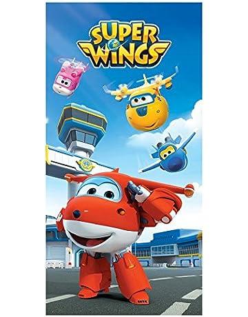 Super Wings - Toalla de algodón 70x140 cm (ColorBaby 77004)