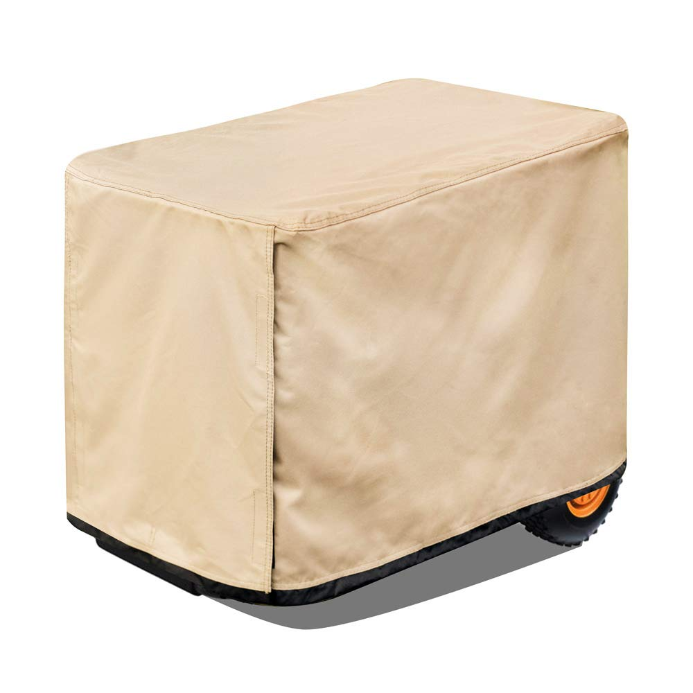 HKDE Store 26 Inch Universal Waterproof Generator Cover for Most Generators Provide Full Protection for 3000-5000 Watt Generator (Fits generators up to 26''(L) x20(W) x20(H), Brown) by HKDE Outdoor