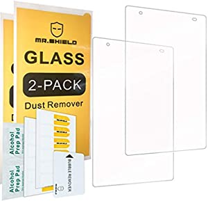 "[2-PACK]-Mr.Shield For Lenovo Tab 4 8 Plus (8.0 Inch) / Lenovo Tab 4 Plus 8"" [Tempered Glass] Screen Protector [0.3mm Ultra Thin 9H Hardness 2.5D Round Edge] with Lifetime Replacement"