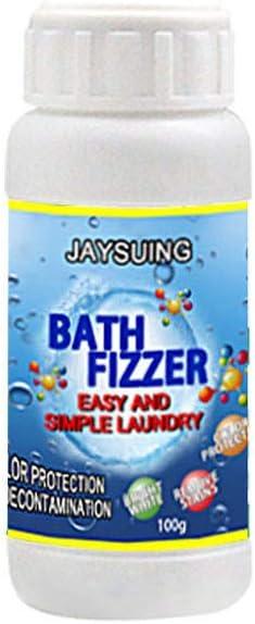 Hinclud Polvo quitamanchas para la ropa, quitamanchas para la ropa, blanqueador para la ropa Polvo para la limpieza de la ropa Polvo blanqueador Bombas de baño Fizzer Lavandería Quite las manchas ráp: