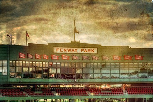 Amazon.com: Fenway Park Vintage Print - Boston Prints - Red Sox Wall ...