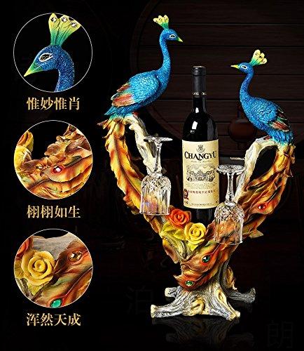 peacock wine rack cabinet decor room housewarming gifts gift zj01231004