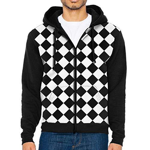 e Lattices Fashion Hoodies Athletic Full-Zip Hooded Sweatshirt Jacket with Pocket ()