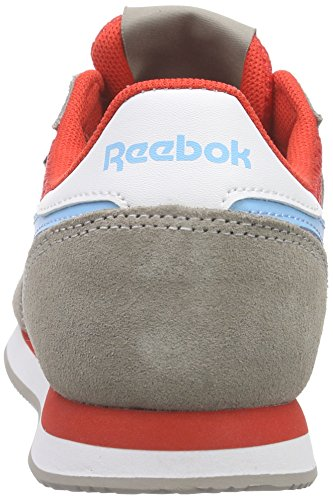 Reebok Royal Cljogger Zapatillas de running, Niños Marrón / Rojo / Azul / Blanco (Beach Stone / Moto Red / Blue Splash / White)