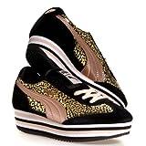 Puma SF77 Platform Rose Gold Women's Sneaker (US 6.5, Black-Pale Blush)