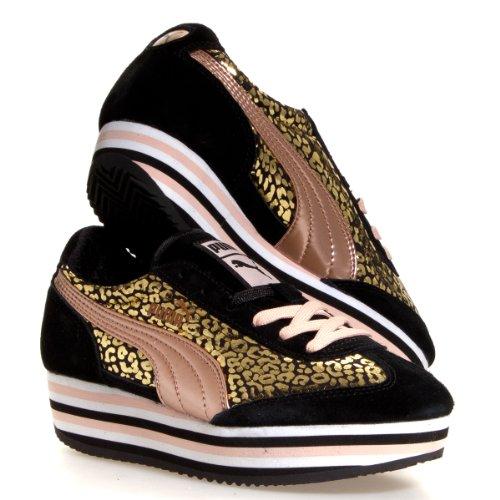 Puma SF77 Platform Rose Gold Women's Sneaker (US 7, Black-Pale Blush)