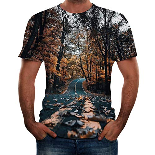 (TOPUNDER Men Summer New Full 3D Printed T Shirt Plus Size S-3XL Cool Printing Top Blouse)