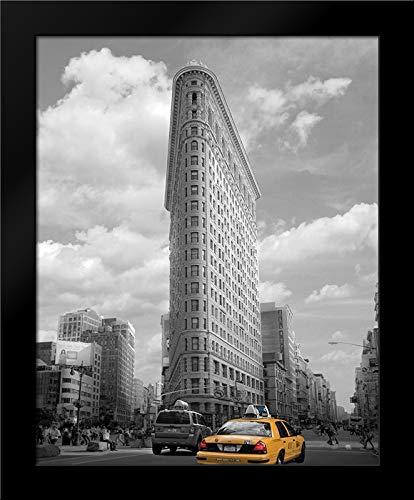 Yellow Cabs at Flatiron Building Framed Art Print by Maloratsky, Igor ()