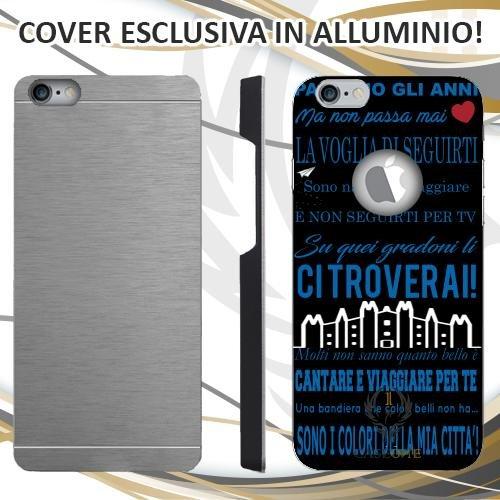 CUSTODIA COVER CASE CORO ULTRAS INTER NERO PER IPHONE 6 PLUS IN ALLUMINIO