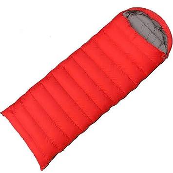 JSHFD Bolsa de Dormir, Saco de Dormir Ligero sobre, Sacos de Dormir Calientes para Acampar al Aire Libre (Color : Red): Amazon.es: Deportes y aire libre
