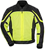 Tour Master Intake Air Series 4 Women's Textile Sports Bike Racing Motorcycle Jacket - Hi-Viz Yellow/Black / Large