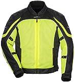 Tour Master Intake Air Series 4 Women's Textile Sports Bike Racing Motorcycle Jacket - Hi-Viz Yellow/Black / Medium