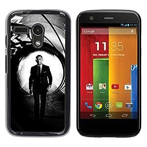 // PHONE CASE GIFT // Duro Estuche protector PC Cáscara Plástico Carcasa Funda Hard Protective Case for Motorola Moto G 1 1ST Gen / Daniel Craig Bond /