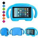 2017 All-New Fire 7 Tablet Case, LTROP Protective Kid-Proof Case for Fire 7 (2017 Release, 7th Generation), Kids Case with Stand, Fire 7 Case for Kids, Blue
