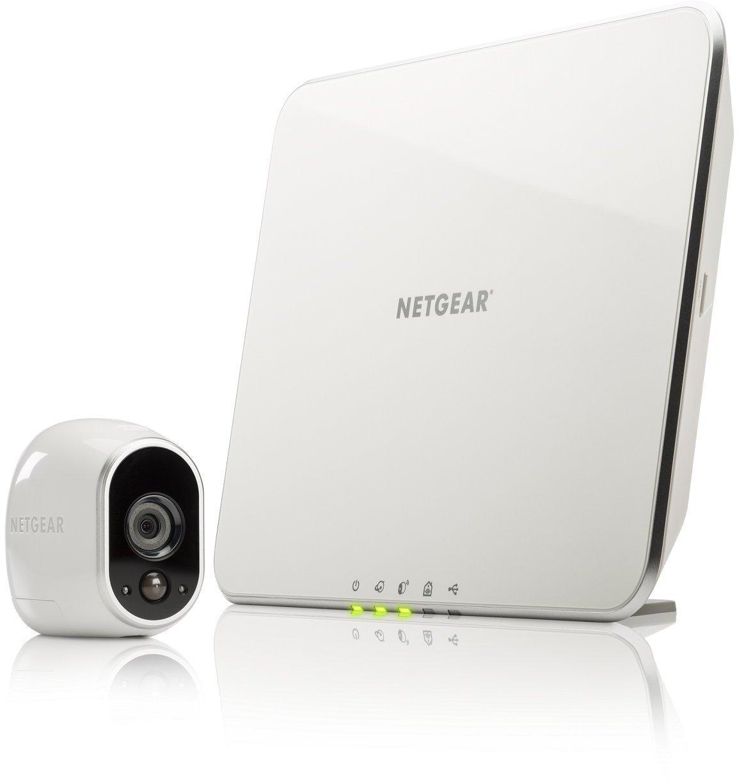 Arlo NETGEAR - Smart Caméra VMS3130-100EUS, Kit de Surveillance 100% sans Fil , 1 Caméra HD Incluse, Vision Nocturne, Etanche Intérieure/Extérieure
