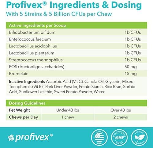 Glandex 60ct Peanut Butter Fiber Supplement with Profivex 30ct Pet Probiotic Soft Chews 9