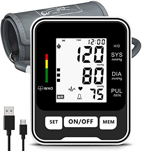 Blood Pressure Monitor for Upper Arm,Fully Accurate Automatic Digital BP Machine for Home Use Fast Reading Health…