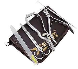 Candure - Kit de 5 Piezas de Instrumentos de Podología, Cortauñas para Uñas Enterradas - Autoenclavables - CE
