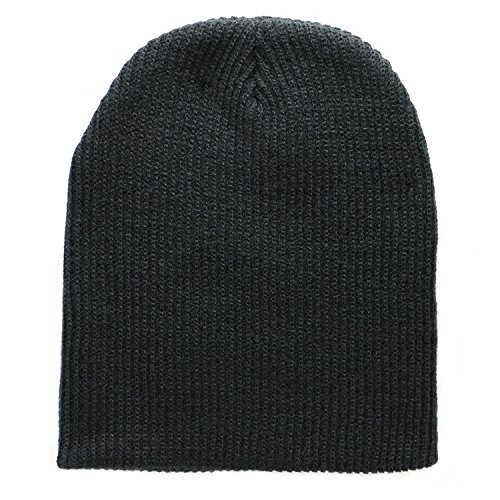 The Perfect Fit For All! Super Soft Black Slouch Knit Beanie for Men And Women -