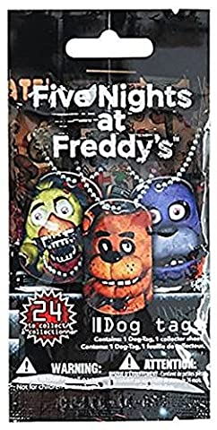 Officially Licensed Five Nights At Freddy's Dog Tags Necklace Mystery Pack