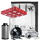 TopoLite Grow Tent Room Complete Kit Hydroponic Growing System LED 1800W Grow Light + 6'' Carbon Filter Combo + 60''x60''x80'' Dark Room (LED1800W+60''X60''X80''+6'' Filter Combo)