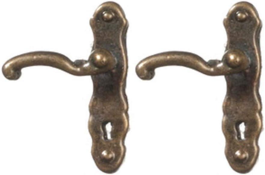 Amazon.es: Melody Jane Casa de Muñecas Manijas Puerta Latón Antiguo Miniatura Pomos Puerta: Juguetes y juegos