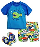 Wippette Boys' Angry Fish Rash Guard Set