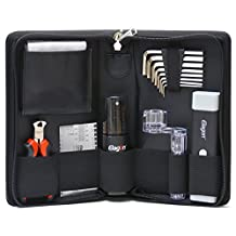 Elagon (STC) Pro Care Kit - Top Quality Guitar Cleaning and Maintenance Kit With all the Essential Guitar Tools to Keep Your Guitar Clean and Properly Set Up For Best Playing Smoothness and Speed! The Perfect Maintenance and Setup Tools Kit in a Practical Pouch for Use at Home or on the Road. Designed For Electric, Acoustic and Classical Guitars, Including Other String Instruments Like Banjos, Ukuleles, Mandolins, etc. A Great Gift for any Beginning or Pro Guitarists! Great US/UK/EU Seller!