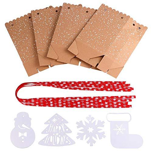 Ranggrgt 4Pcs Kraft Paper Bags Candy Bar Sweet