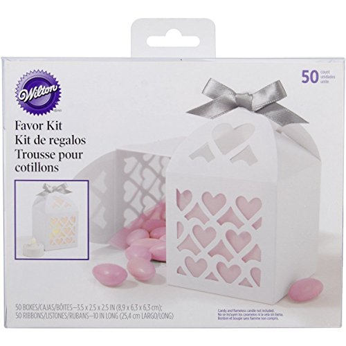 Wilton Paper Lantern Favor Box In White; Wedding Supplies White Lace Color