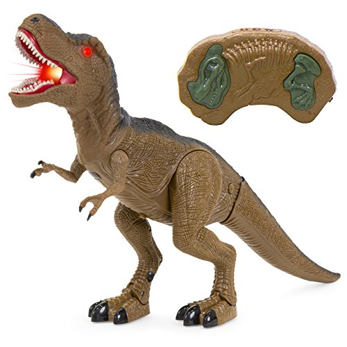 Best Choice Products Kids Toy Remote Control T-Rex Walking Dinosaur Lights & Sounds