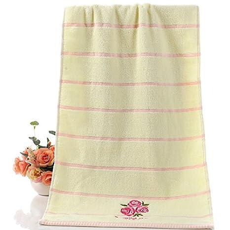 mmynl Pure algodón Toallas toallas de parejas de cómodo agua absorción macho y hembra adultos toallas de cara de 75 x 35 cm: Amazon.es: Hogar